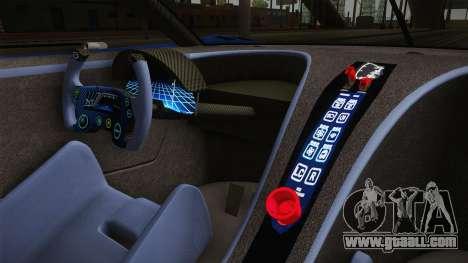 Bugatti Vision GT for GTA San Andreas inner view