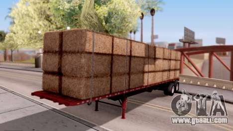 FlatBed Trailer From American Truck Simulator for GTA San Andreas
