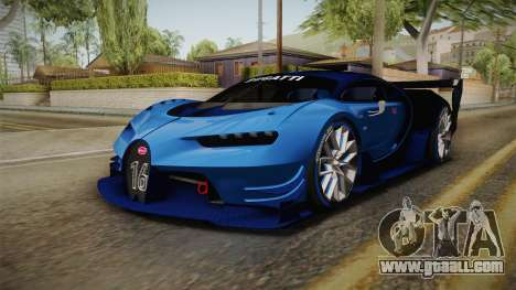 Bugatti Vision GT for GTA San Andreas back left view