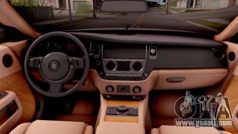 Rolls-Royce Wraith v2 for GTA San Andreas bottom view