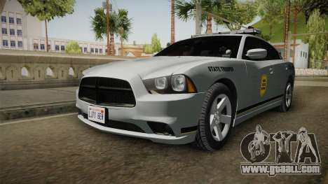Dodge Charger 2012 Iowa State Patrol for GTA San Andreas right view