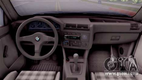BMW E30 320i for GTA San Andreas inner view