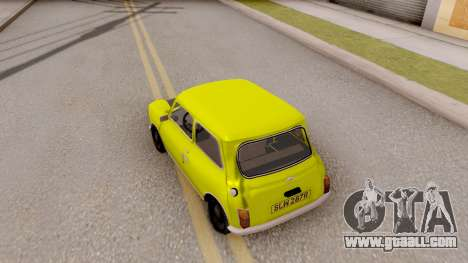 Mini Cooper 1300 Mr Bean for GTA San Andreas back view