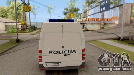 Mercedes-Benz Sprinter BIH Police Van for GTA San Andreas back left view
