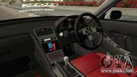 Honda NSX-R Rocket Bunny for GTA San Andreas inner view