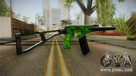 Green AK-47 for GTA San Andreas second screenshot