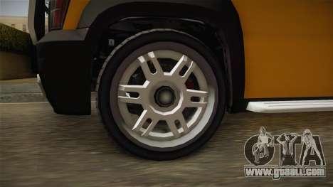 GTA 5 Declasse Granger Pick-Up for GTA San Andreas back view
