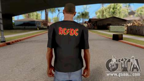Black T-Shirt AC/DC for GTA San Andreas third screenshot