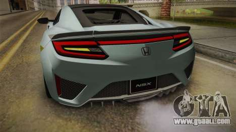 Honda NSX 2017 for GTA San Andreas bottom view