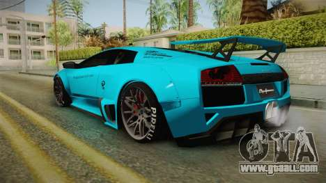 Lamborghini Murcielago LP670-4 SV Liberty Walk for GTA San Andreas left view