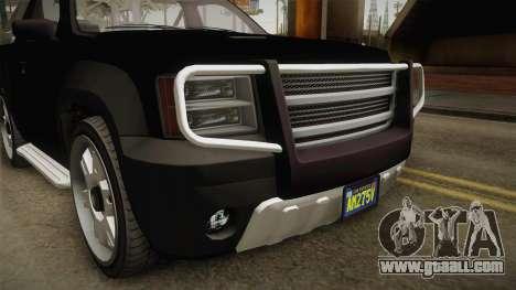 GTA 5 Declasse Granger Pick-Up IVF for GTA San Andreas inner view