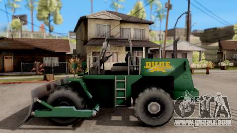 Paintable Dozer for GTA San Andreas left view