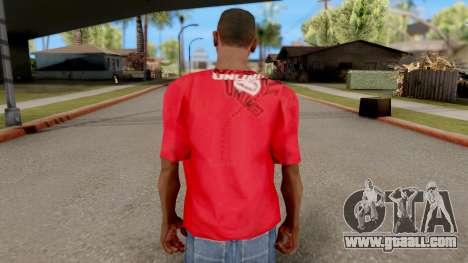 Ecko Unltd T-Shirt Red for GTA San Andreas third screenshot