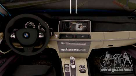 BMW 760 Li for GTA San Andreas inner view