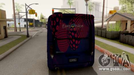 Scania K420 Eurovision 2017 for GTA San Andreas back left view