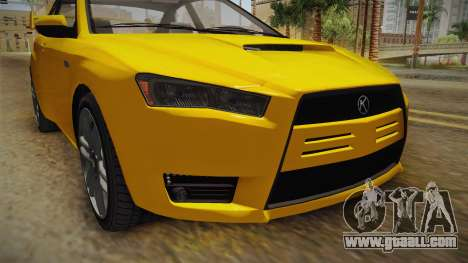 GTA 5 Karin Kuruma Coupè IVF for GTA San Andreas