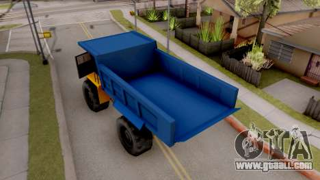 Paintable Dumper for GTA San Andreas back view