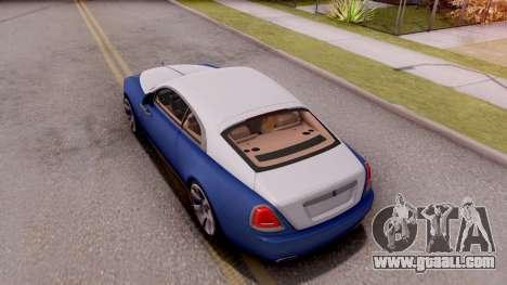 Rolls-Royce Wraith v2 for GTA San Andreas back view