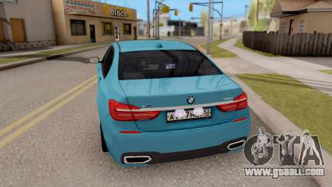 BMW 760 Li for GTA San Andreas back left view