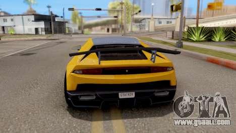 GTA 5 Pegassi Tempesta IVF for GTA San Andreas back left view