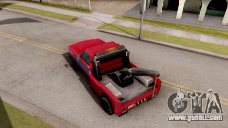 Paintable Towtruck v1 for GTA San Andreas back view