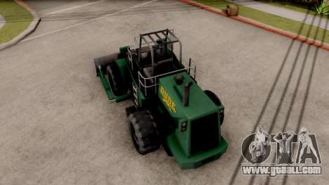 Paintable Dozer for GTA San Andreas back view