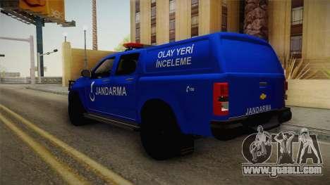 Chevrolet S10 Turkish Gendarmerie CSI Unit for GTA San Andreas left view