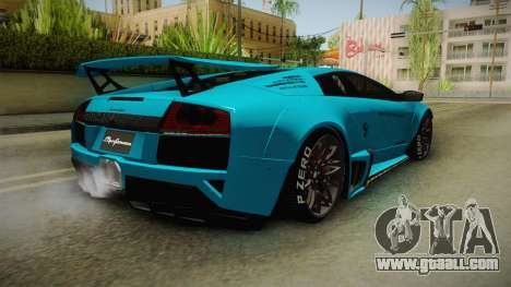 Lamborghini Murcielago LP670-4 SV Liberty Walk for GTA San Andreas back left view