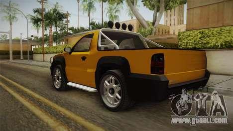 GTA 5 Declasse Granger Pick-Up for GTA San Andreas back left view