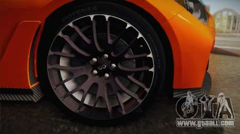 Infiniti Q50 Eau Rouge 2014 for GTA San Andreas back left view
