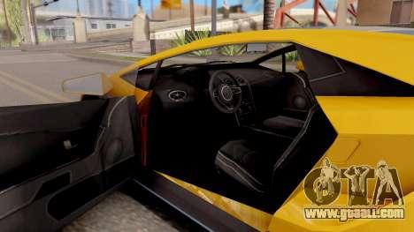 GTA 5 Pegassi Tempesta IVF for GTA San Andreas inner view