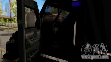 BearCat SWAT Truck for GTA San Andreas inner view