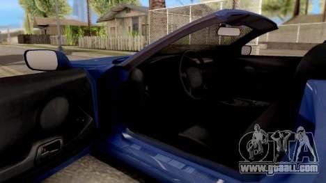 Toyota Supra Cabrio for GTA San Andreas inner view