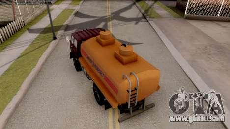 MAZ-500 Tank for GTA San Andreas back view