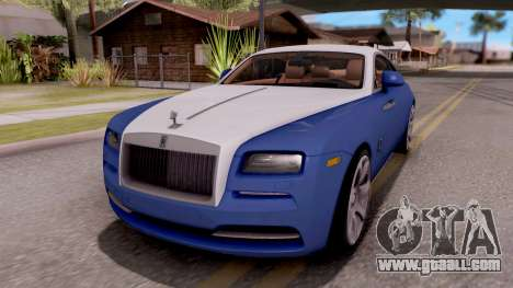 Rolls-Royce Wraith v2 for GTA San Andreas