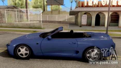 Toyota Supra Cabrio for GTA San Andreas left view