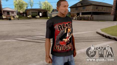 Black T-Shirt AC/DC for GTA San Andreas second screenshot
