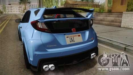 Honda Civic Type R 2015 for GTA San Andreas bottom view