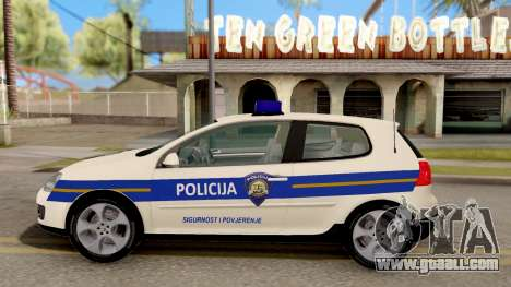 Volkswagen Golf V Croatian Police Car for GTA San Andreas left view