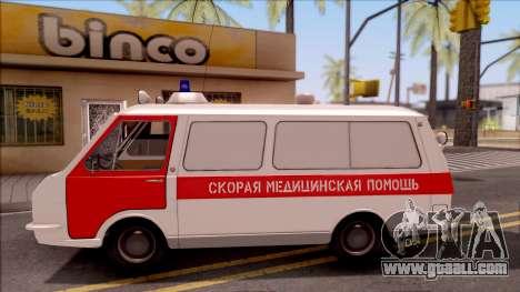 RAF 22031 Ambulance of Pripyat for GTA San Andreas left view