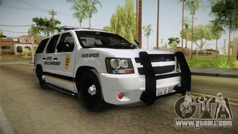 Chevrolet Tahoe 2013 Iowa State MVE for GTA San Andreas right view