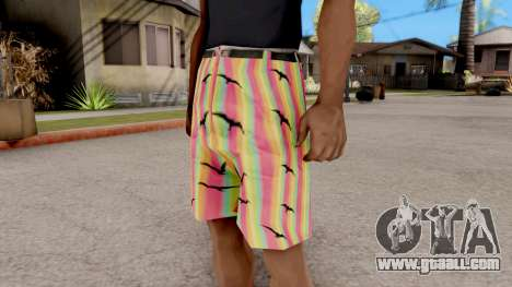 Shorts with seagulls for GTA San Andreas