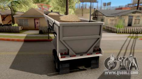 Dump Trailer from American Truck Simulator for GTA San Andreas left view