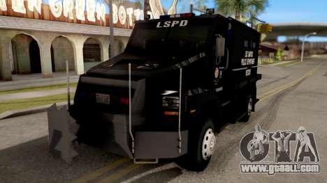 BearCat SWAT Truck for GTA San Andreas
