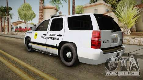 Chevrolet Tahoe 2013 Iowa State MVE for GTA San Andreas left view