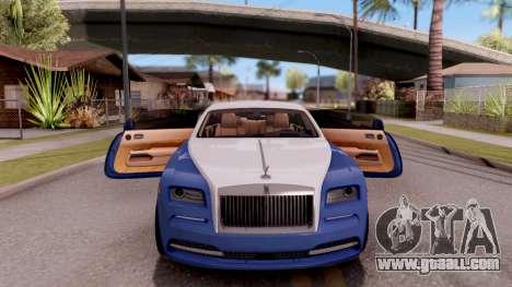 Rolls-Royce Wraith v2 for GTA San Andreas upper view
