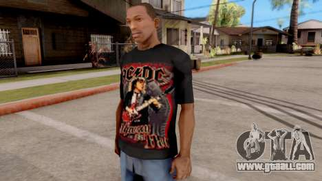 Black T-Shirt AC/DC for GTA San Andreas