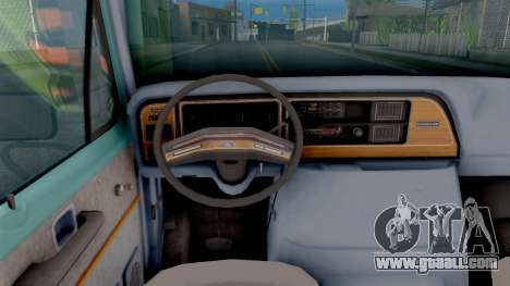 Ford Econoline 150 Scooby-Doo Mystery Machine for GTA San Andreas inner view