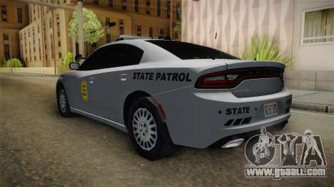 Dodge Charger 2015 Iowa State Patrol for GTA San Andreas back left view