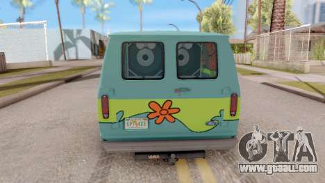 Ford Econoline 150 Scooby-Doo Mystery Machine for GTA San Andreas back left view